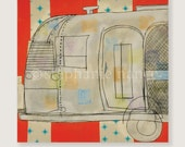 Airstream Trailer Greeting Cards - Blank