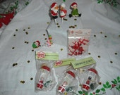 After Christmas Sale - Lot of 9 Mini Christmas Decorations - New Old Stock