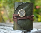 MiniBook  A8  Beer Cap & Dark Green leather