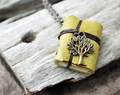 Tree Green MiniatureBook Necklace