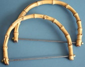 Vintage bamboo purse handles