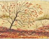 Golden Autumn - original acrylic painting