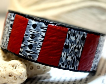 Polymer clay tutorial, INSTANT DOWNLOAD - How to make a tiled Bangle Bracelet with polymer clay