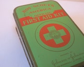 Vintage 1940s Boy Scouts of America First Aid Kit w Original Supplies