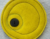 Recycled Felt and Vintage Button Coasters