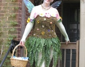 REDUCED Moss and Fern Faerie Costume