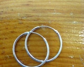 Sterling Silver Hoops with invisible closure