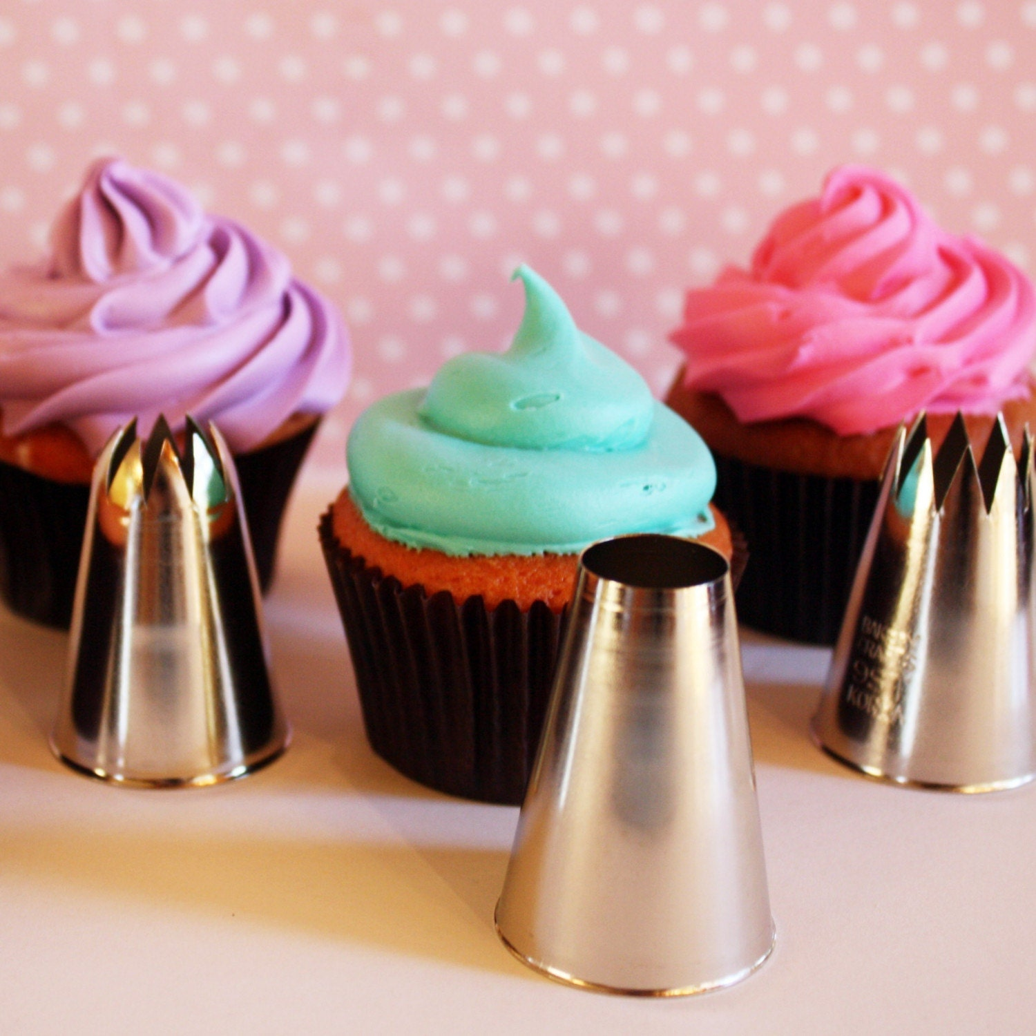 Best-Ever Cupcake Icing Kit Four Huge Decorating Tips With