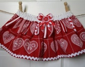 Twirl Tag Baby TuTu Skirt Size 6 to 18 months Red Hearts. - SALE - 2 for 30.00 dollars