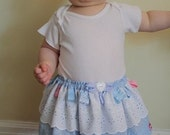 Twirl Tag Baby Skirt Size 6 to 18 months Blue Lace - SALE-