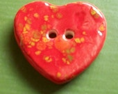 Red Heart Ceramic Button