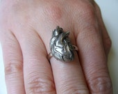 Anatomical Human Heart Ring