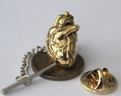 A Heart of Gold Tie Tack Lapel Pin