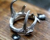 Sterling Silver Elk Antler Ring - Last One