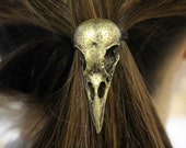 Crow Skull Pony Tail Holder - Hair Tie Bird Skull