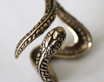 Snake Ring Solid Bronze Snake Ring Adjustable Snake Ring 069
