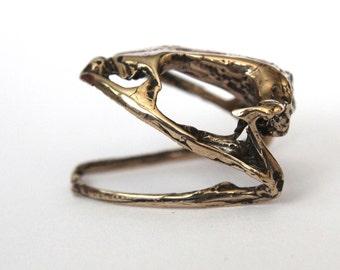 Frog Skull Ring in Bronze Frog Skull Ring - Bullfrog 050