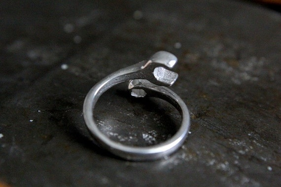 spanner wrench ring sterling silver spanner wrench ring laies