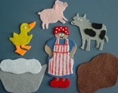MRS. WISHY WASHY Children's Flannel Board Felt Set