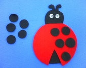 LUCY THE LADYBUG Childrens Flannel Board Felt Set