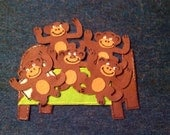 Five Monkeys Jumping on the Bed Children's flannel board felt story