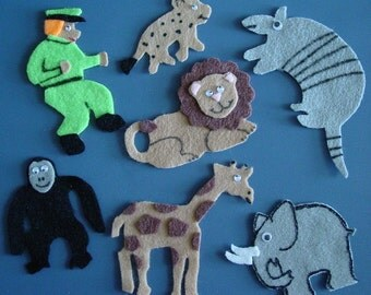GOODNIGHT GORILLA Childrens Flannel Board Story Felt Set