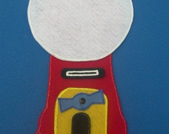 Gumball Machine Children's Flannel Board Felt Set