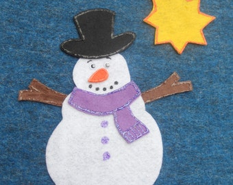 Build a Snowman Flannel Board Felt Board story