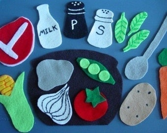 STONE SOUP Children's Flannel Board Felt Set
