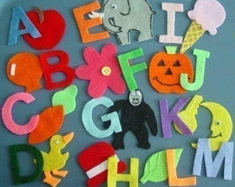 Alphabet Children's Flannel Board Felt Set