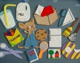 GIVE A MOUSE A COOKIE Children's Flannel Board Felt Set