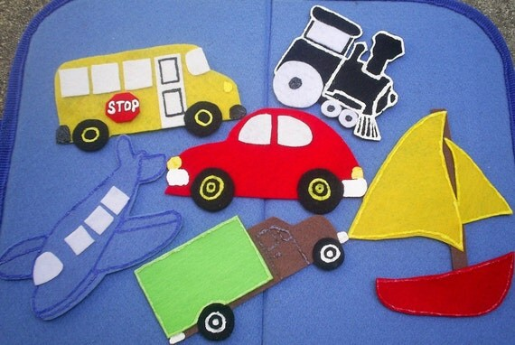 Cars and Trucks/Things that Go Flannel Board Felt Board Set