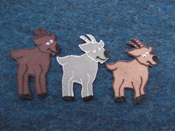 The Three Billy Goats Gruff Felt Board Flannel Story