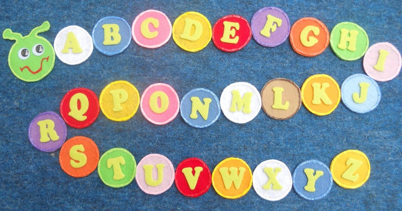 Alphabet caterpillar flannel board felt story by for Flannel board letters
