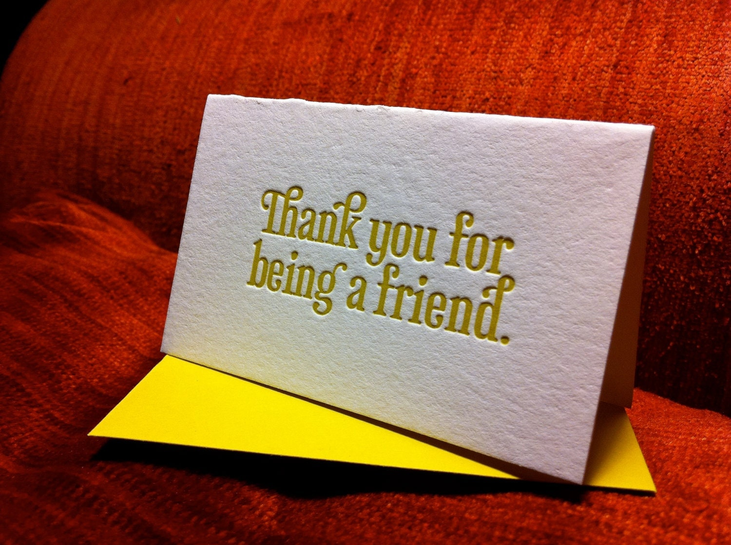 Thank You For Being A Friend Folded Gift Enclosure Bold