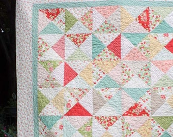 PATTERN - Hour Glass Block Quilt
