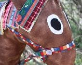 Handmade Cotton Stuffed Hobby Horse children's toys by craftycrackpot on etsy