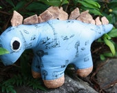 Handmade Stuffed Dinosaur Toy Stegosaurus children's items by craftycrackpot on etsy