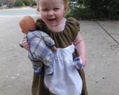 Handmade Girl's Summer Linen Dress - 18-24 months children's clothing by craftycrackpot on etsy