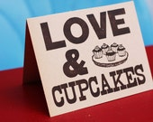 Love & Cupcakes // Printed on Manila Scrapbook Paper