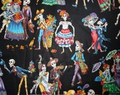 7yds 25in BULK Paseo De Los Muertos Fabric