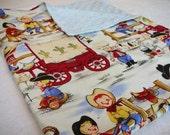 Vintage Lil Cowpoke Minky Blanket