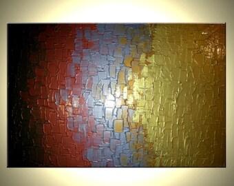 Metallic Abstract Original Painting by Lafferty Art Sale 22% Off