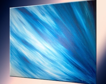 Original Painting by LaffertyArt - Blue Abstract Sale 22% Off