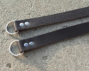 Dark Chocolate Brown Leather Purse Straps
