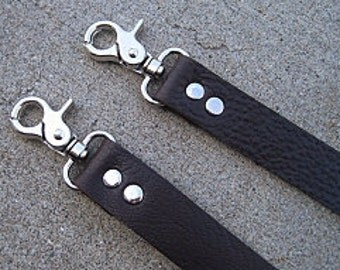 """33"""" Dark Chocolate Brown Leather Purse Strap/Replacement Strap"""