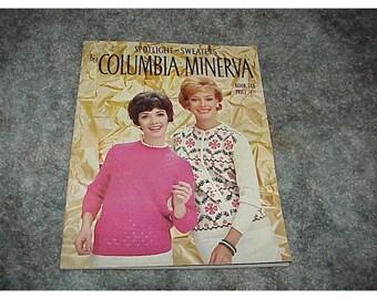Vintage--Columbia Minerva Knitting Pattern Book--SWEATERS--Spotlight On Sweaters--KNITTING Book--1967