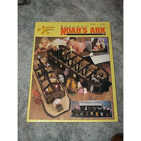 Noah's Ark--CROCHET--Annie's Attic--RARE--Hard To Find