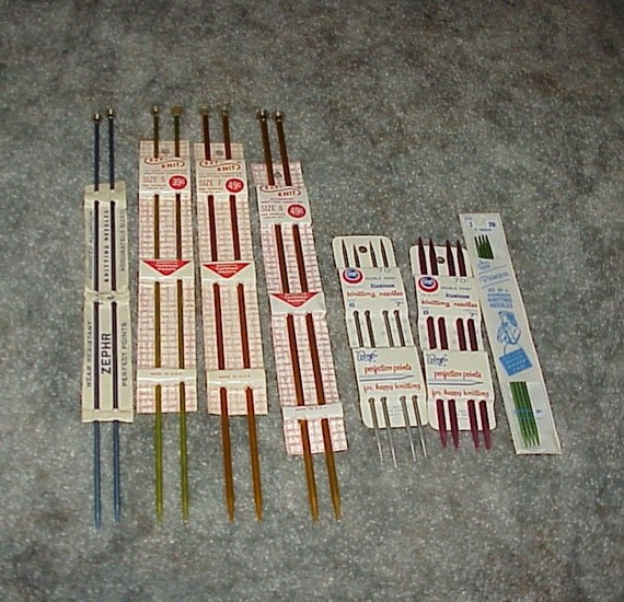Vintage--Knitting NEEDLES--Lot Of 4 Pairs PLUS 3 Sets Of Double Point Needles--Knit--Needles--Unused
