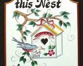 Birdhouse  WELCOME/Garden SIGN  PERSONALIZED Great Gift Idea